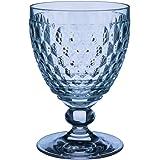 Villeroy & Boch Boston Clear Crystal Goblets, Conjunto de 4, Azul