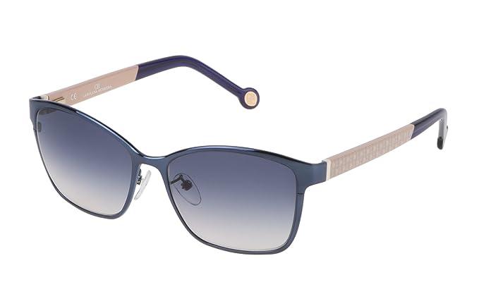 Carolina Herrera SHE067560K63 Gafas de Sol, Azul, 56 para Mujer