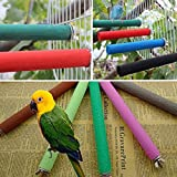 Bird Claw Grinding Bar, Wooden Peony Parrot Myna Birds Nest Grind Claw Mill Arenaceous Stick Standing Rod