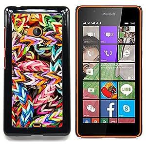 """Qstar Arte & diseño plástico duro Fundas Cover Cubre Hard Case Cover para Nokia Lumia 540 (Caramelo colorido"""")"""