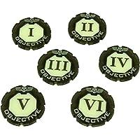 LITKO WHv8: Premium 2-Tone, Objective Token Set, Numbered 1-6 (6)