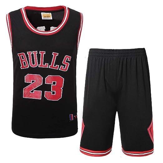Basport Traje de Ropa de Baloncesto Masculino NBA Bulls Michael Jordan No. 23: Amazon.es: Deportes y aire libre
