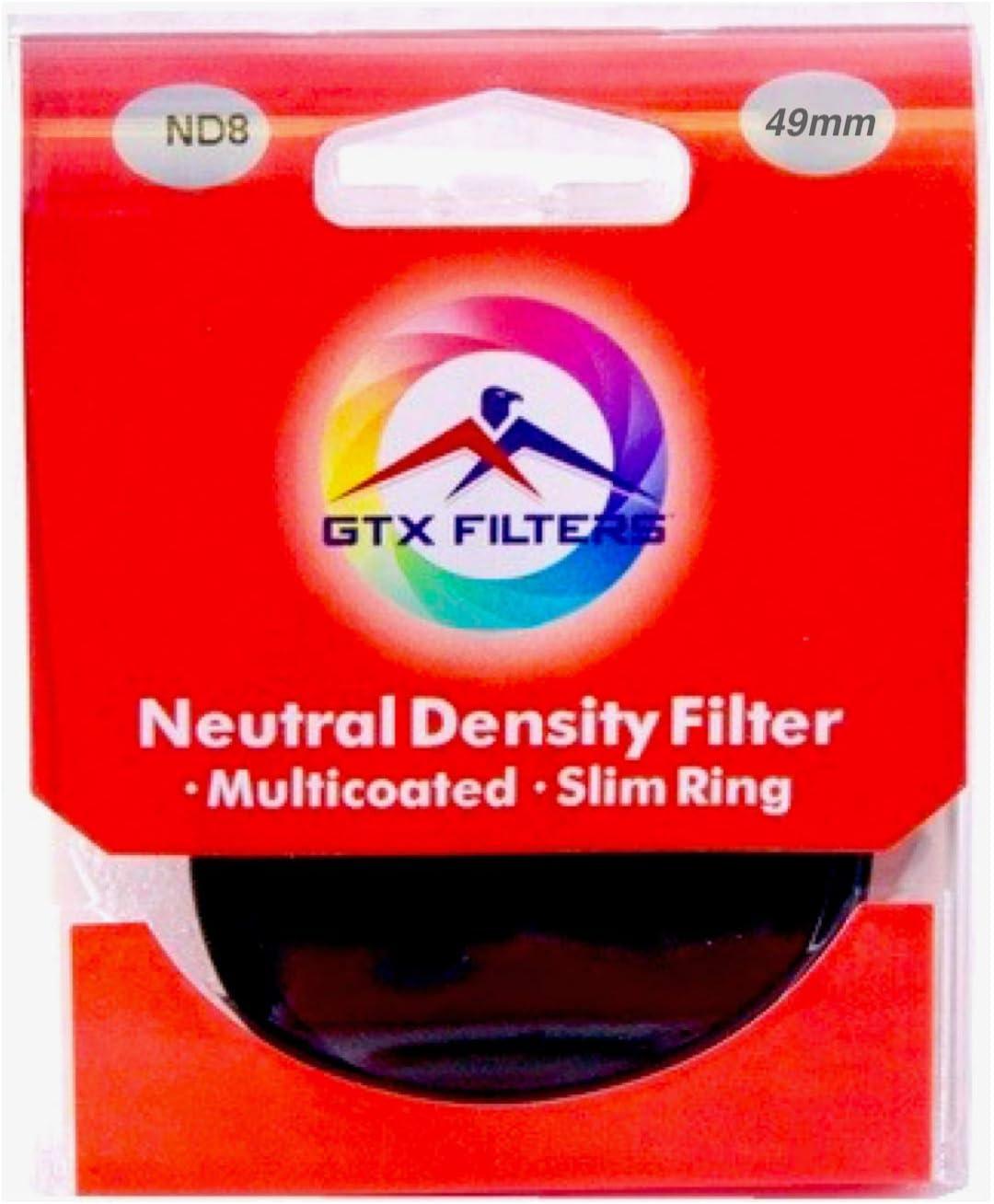 Black GTX FILTERS GF-X//ND849 X Series ND8 49mm Camera Lens Neutral Density Filter
