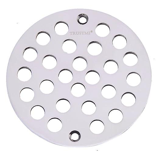 Trustmi 4 Inch Screw In Shower Drain Cover Replacement Floor
