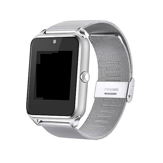 Reloj Inteligente Reloj de Pulsera Bluetooth DE 1.5 Pulgadas con cámara Ranura para Tarjeta TF/
