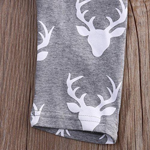 Dovee Baby Girl Boy Deer Print Letter Sleeveless Vest Rompers Floral Bodysuit Playsuit Jumpsuit Outfits