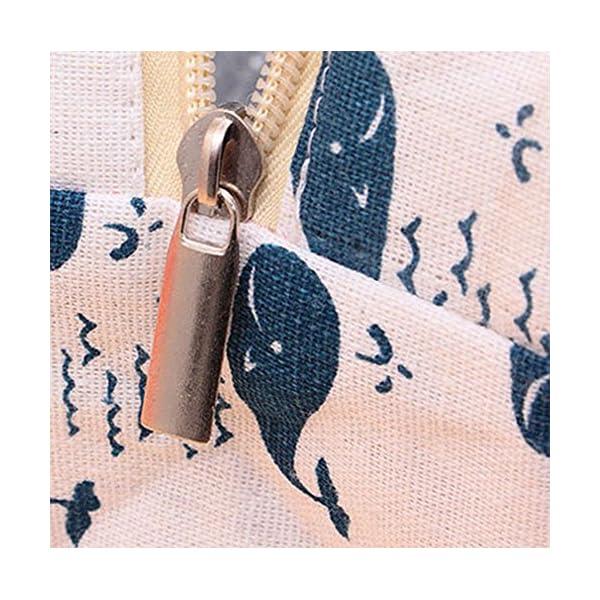 Joyfeel - Borsa Termica per Il Pranzo, in Cotone, Motivo: Orsetto, 18 x 13 x 21,5 cm 3 spesavip