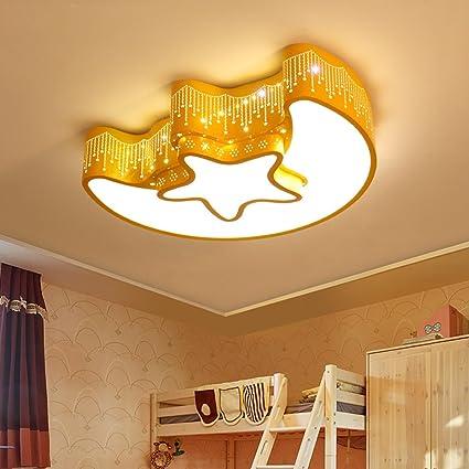 Creative Star Moon LED Ceiling Light, Kids Room Bedroom Decorative Light,  Diameter: 46CM