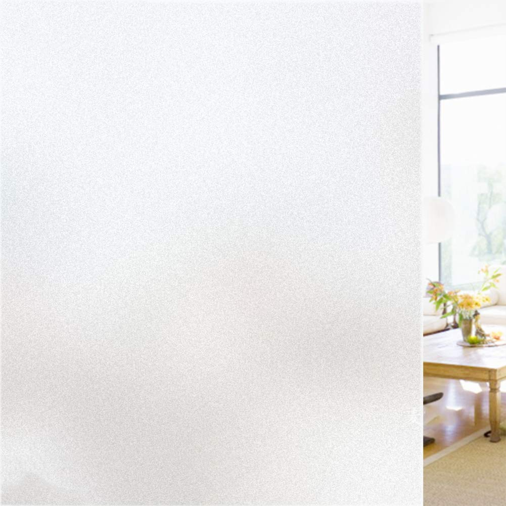 8x79inch JYMBK Glassato Pellicola della Finestra Pellicola Privacy,Opaco Film di Vetro Glassato Adesivo,Nessuna Colla Anti UV Pellicola Decorativa per La Casa Ufficio Cucina-b 20x200cm