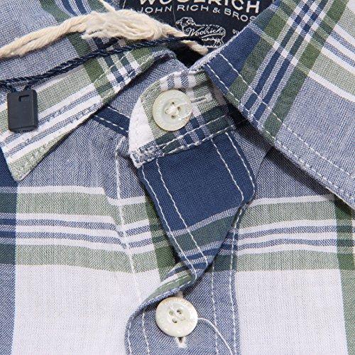 Woolrich Camicie Camicia azzurro 36488 Men Uomo Shirt Bianco 1q1rpzOx