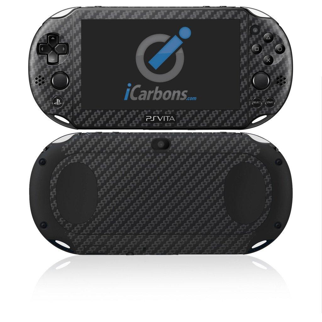 iCarbons Black Carbon Fiber Vinyl Skin for PS Vita Slim (2000) Playstation