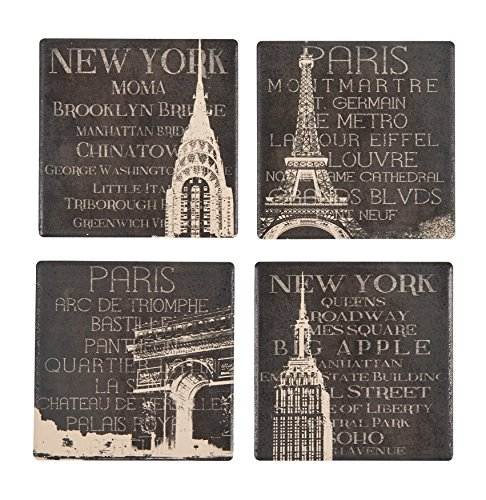 Boston Warehouse New York and Paris Coasters, Set of - New York Metro