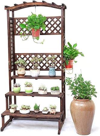 Huahua Furniture Escalera para Flores, Flor de Madera Escalera de Estante Ollas Estante Estantes para Plantas de pie Jardín Balcón Soporte de exhibición Estantes de Almacenamiento (Size : B): Amazon.es: Hogar
