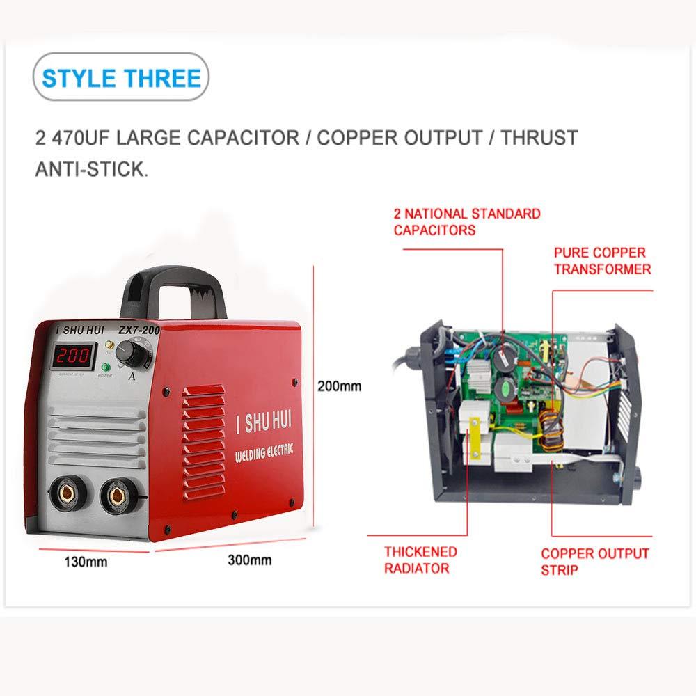 200 A Arc MMA IGBT sudor dispositivo DC Cambio Richter Inverter Soldadura Digital Pantalla LCD Stick 200 Amp 200 A 230 V - Stick Welder Welding ishuhui ...