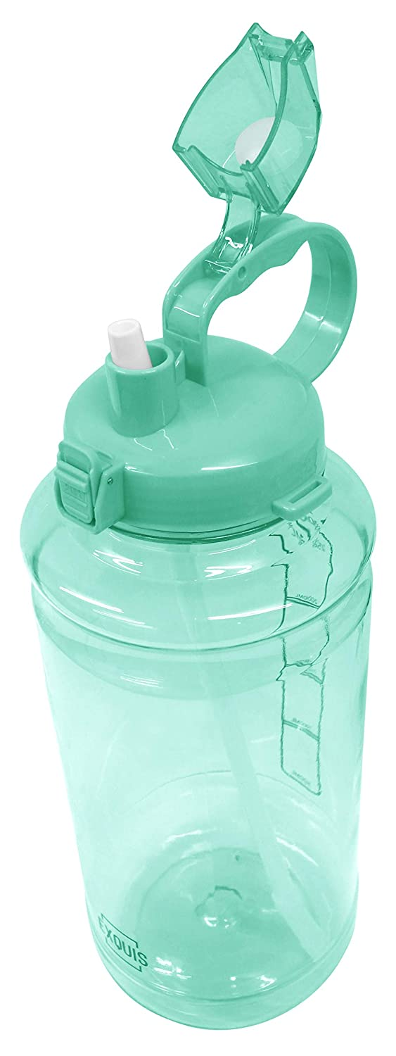 GHP Tritan Outdoor Water Bottle with Carry Handle /& Pop Up Straw