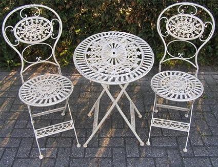 Jugendstil Gartenmöbel Set Gartentisch Barock Antik Tisch, Stühle Garten Barock