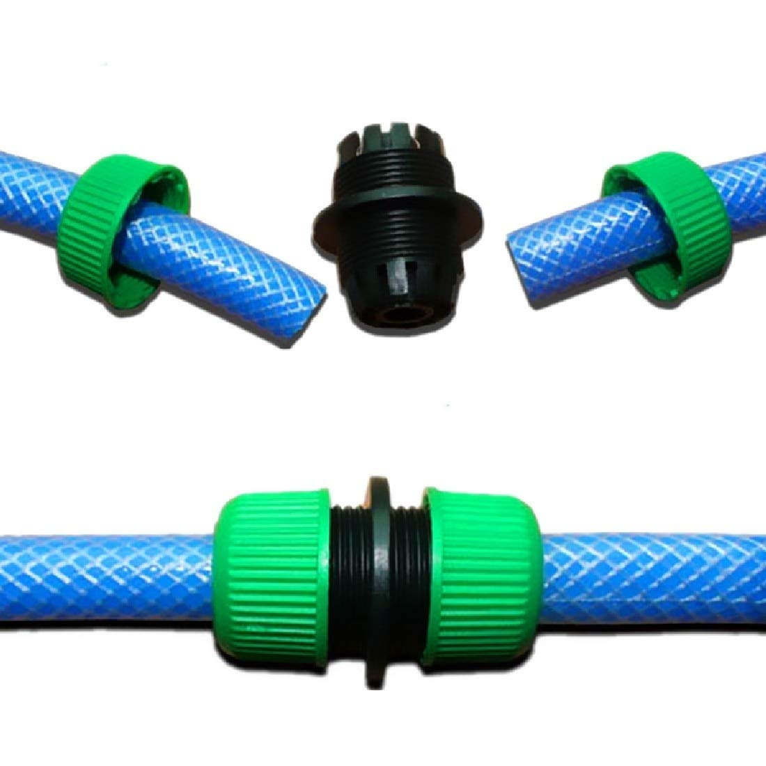 1/2'' Garden Water Hose Connector Pipe Quick Connectors Joining Mender Repair Leaking Joiner Connector Adapter Basico