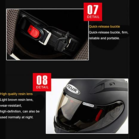 Oztklife Moto Crash Casco Modular De Alta Seguridad-Zeus Full Face Racing Casco De Moto para Adultos Hombres Mujeres: Amazon.es: Deportes y aire libre