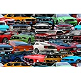 Ford Mustang Cars Allover Fleece Fabric Print by the Yard o1463s
