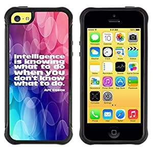 iKiki Tech / Estuche rígido - Intelligence Actions Knowing Quote Life - Apple iPhone 5C