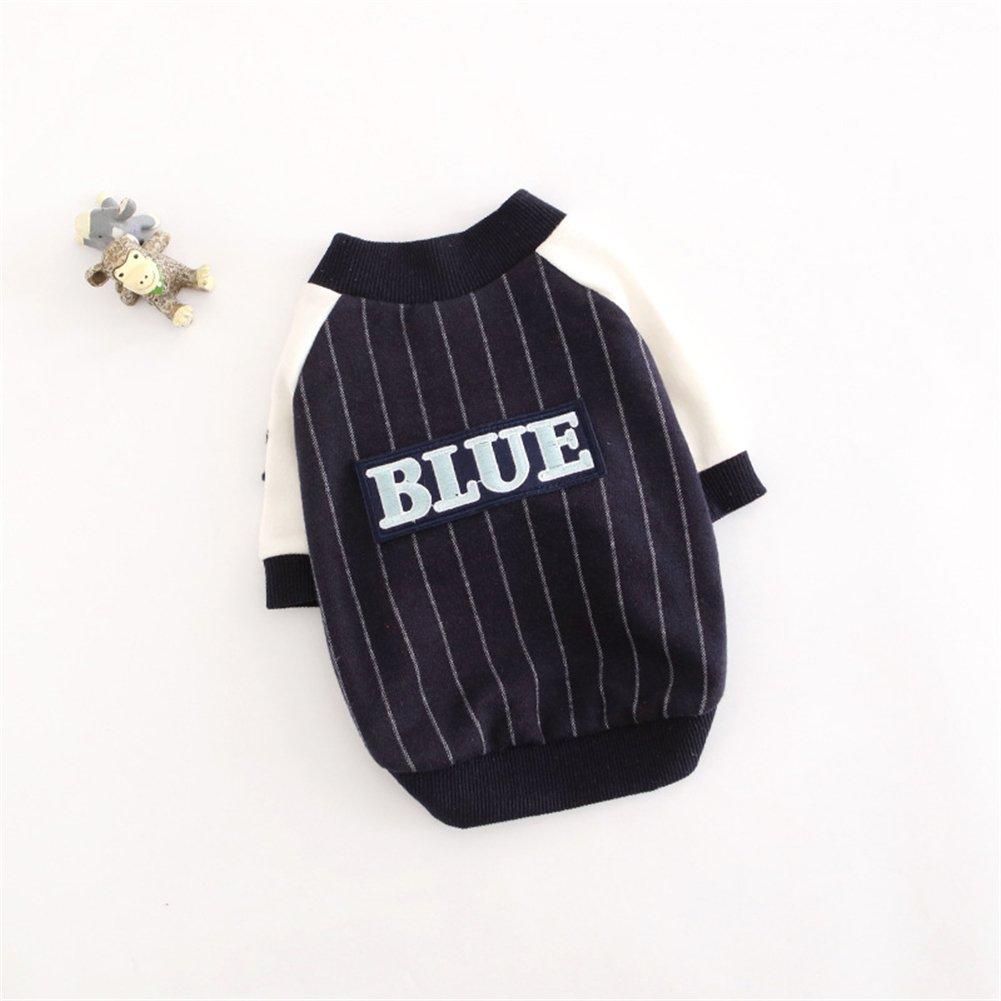 bluee L bluee L Stylish Pet Dog Warm Clothes Cute Fashional Puppy Apparel Winter Warm Outwear Coat