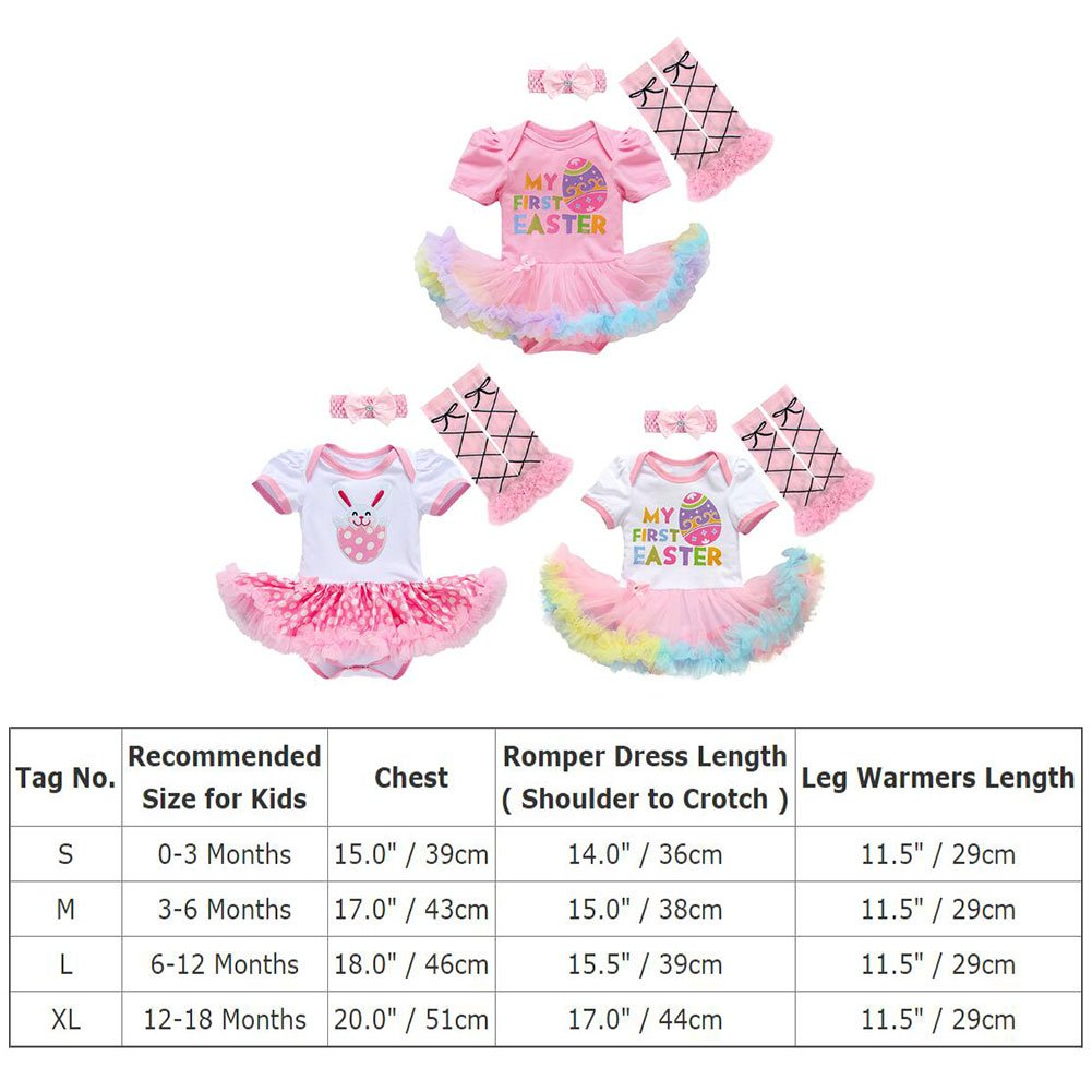 d16c4d2a3144 Amazon.com  Baby Girls 1st Easter Outfit Rabbit Bunny Eggs Romper ...