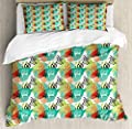Printed Quilt SetAbstract Fauna Duvet Cover SetGirls Boys Children's Quilt Cover Bedding Set