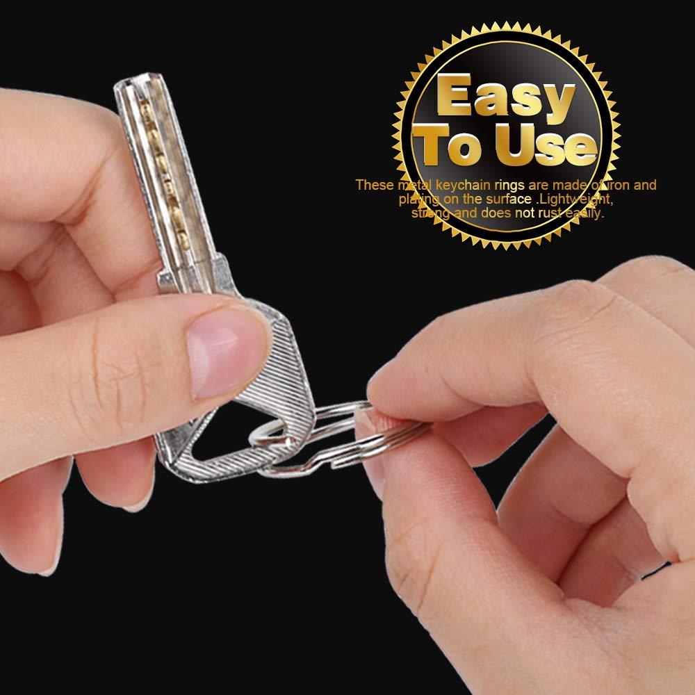 15 PCS Split Key Rings Bulk 3 Sizes FANDAMEI Metal Key Chain Ring Flat O Ring for Keychain Key and Art Crafts 25 mm //0.98 inch 5pcs, 28 mm //1.1 inch 5pcs, 35mm//1.38 inch 5pcs
