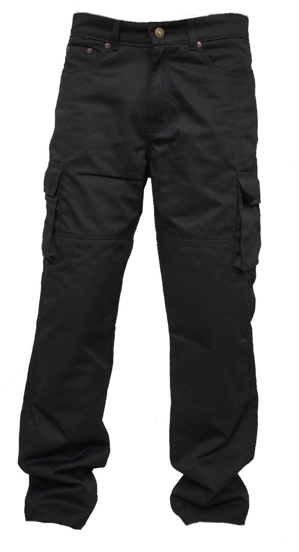 Hombres Forro protector moto de la motocicleta Trabajo pantalones Jeans Cargo Blindada Protecci/ón Aramid