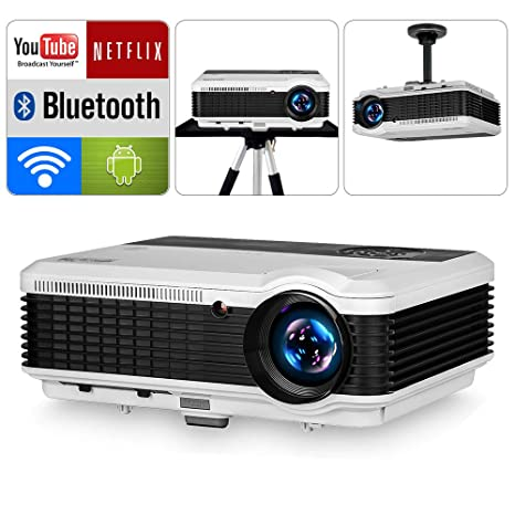 Amazon.com: EUG HD 1280x800 nativo proyector inalámbrico con ...