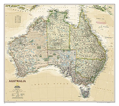 National Geographic: Australia Executive Wall Map (30.25 x 27.25 inches) (National Geographic Reference Map)