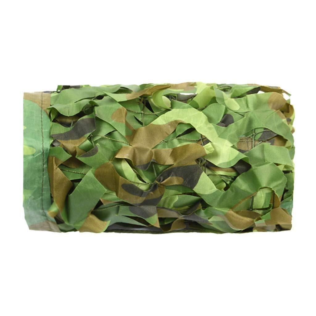 迷彩ネットオックスフォード布迷彩ロールキャンプウッドランド砂漠隠れる狩猟鳩射撃迷彩ネット車の覆い庭パーゴラシェード日焼け止めネット ZHAOFENGMING (Color : 緑, Size : 5x5M) 緑 5x5M