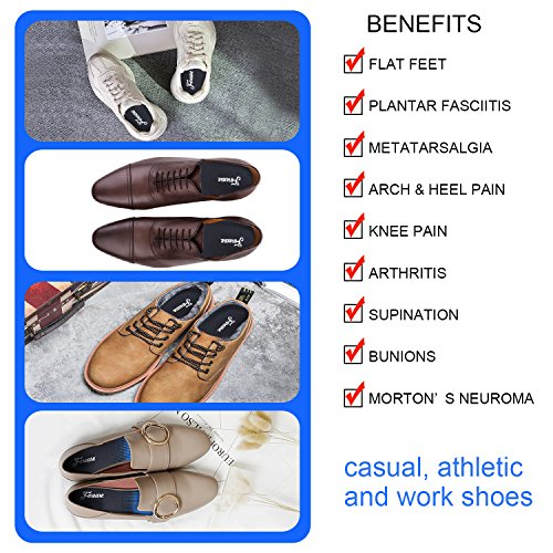 Orthotics for Flat Feet, Forcare Shoes Insoles with High Arch Support for Plantar Fasciitis Over-Pronation Heel Pain Relief (US Mens 8-8.5   Womens 10-10.5) by Forcare (Image #5)