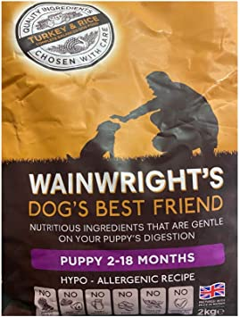 Wainwright S Puppy Complete Duck And Rice 2kg A Hypoallergenic Grain Free Premium Nutriment Dry Dog Food For Sensitive General Stomach Digestion Amazon Co Uk Pet Supplies