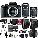 Cheap Canon EOS Rebel T7i 24.2MP Digital SLR Wifi Enabled Camera Black with EF-S 18-55 IS STM and EF-S 55-250mm IS STM Lenses + 64GB Accessory Kit