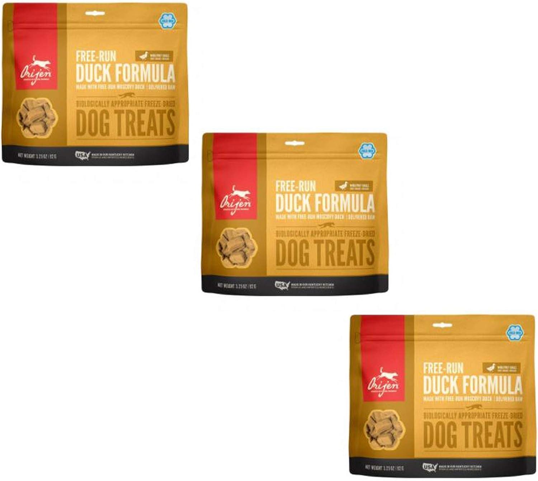 Orijen 3 Pack of Freeze Dried Duck Dog Treats, 3.25 Ounces Per Pack