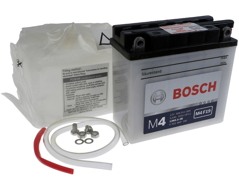 Batterie Bosch 12n55 3b Inkl750 Eur Batteriepfand Vespa Px150 Battery Wiring And Starting System Circuit Auto