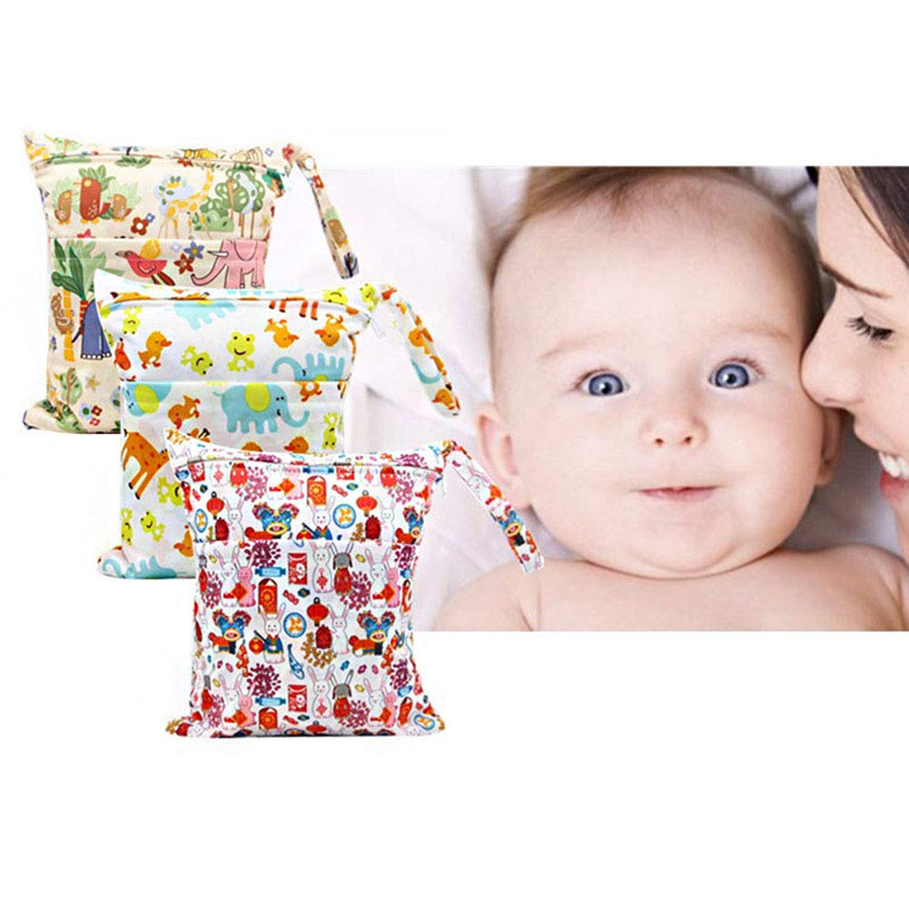 Wdoit Nappy Bag Baby Changing Bag Portable Multifunctional Waterproof Toddler Double Zipper Large Capacity Tote 30/x 36/cm
