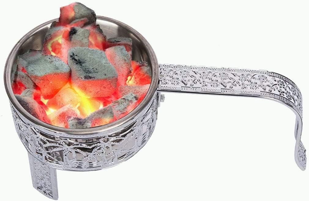 Kertou Shisha Accessories - Cesta de carbón para shisha con asa para shisha shisha