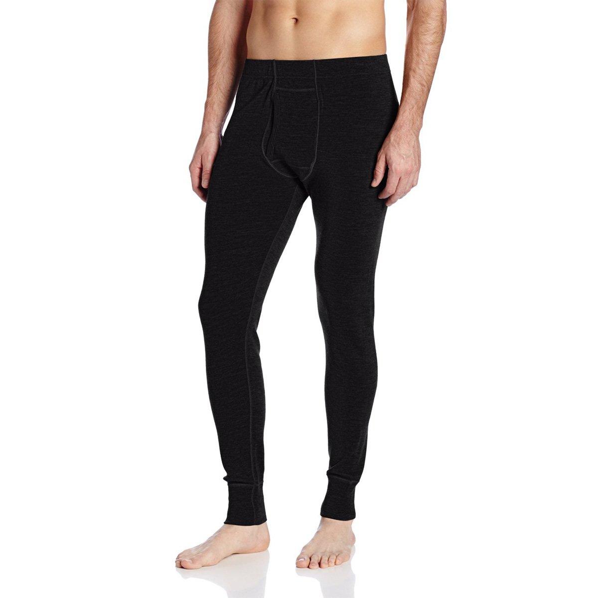 Minus33 Merino Wool Men's Kancamagus Midweight Bottom, Black, Medium-Tall