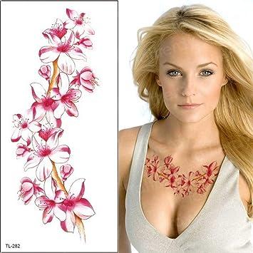 tatuaje pegatina flor tatoo para mujer removedor tatoo azul ...