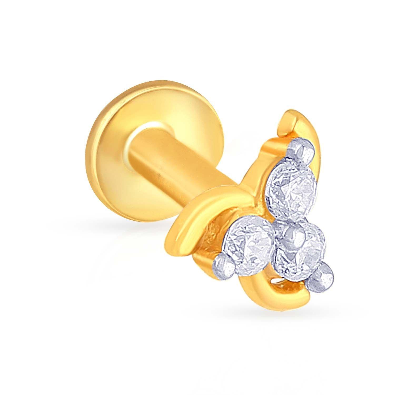 Buy Malabar Gold Diamonds 22kt Yellow Gold Nose Pin For Women At