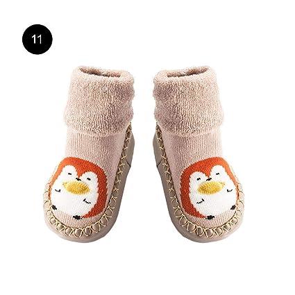 Calcetines De Piso Para Bebés Otoño E Invierno De Espesamiento De Rizo Zapatos Para Bebés Calcetines