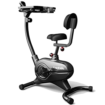 loctek uf4m home office upright stationary desk exercise bike laptop cycling workstation