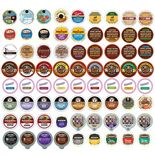 70 Count Packs (Flavored Coffee Single Serve Cups for Keurig K Cup Brewers Variety Pack Sampler (70 Count))