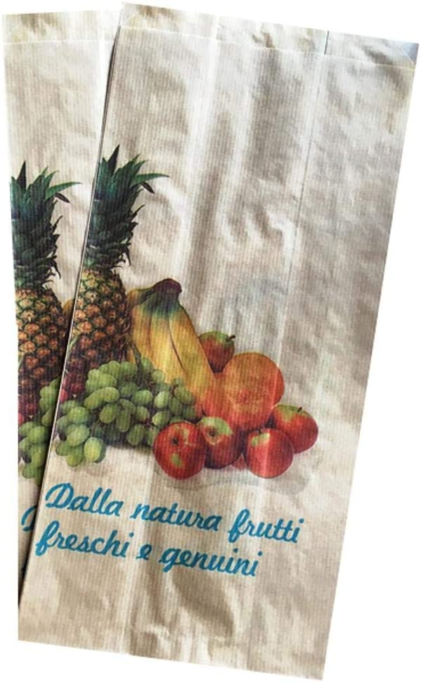 250 pezzi Sacchetti carta kraft antiumidit/à per frutta e verdura cm 14x29
