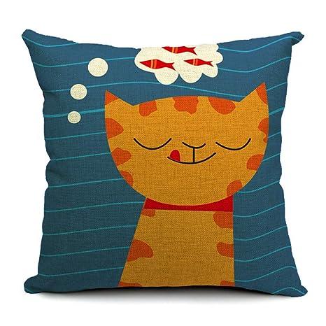 QRJDA@ algodón Lino Cojines de Cometa Diseño para Sillas ...