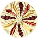 Fair Trade Uganda African Bukedo & Raffia Bowl 15-16'' Across, #UR1316