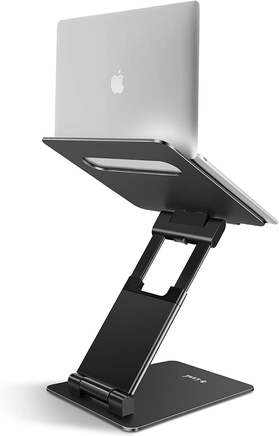 "B-Land Laptop Stand, Adjustable Laptop Stand Holder Ergonomic Laptop Riser Aluminum Computer Stand Compatible with MacBook, Air, Pro, Dell XPS, Samsung, Lenovo, Alienware All Laptops 10-17"" (Black)"