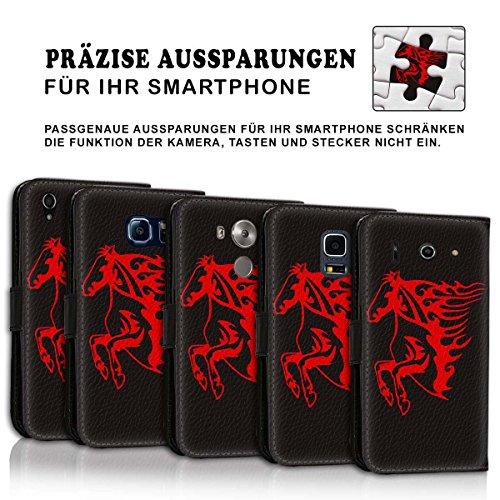 Wallet Book Style Flip Handy Tasche Case Schutz Hülle Schale Motiv Etui für Apple iPhone 4 / 4S - Design Flip MV195